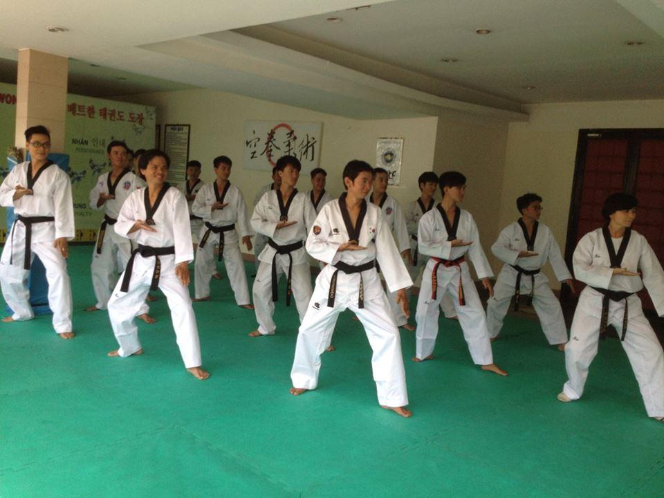 chương trình tập luyện taekwondo